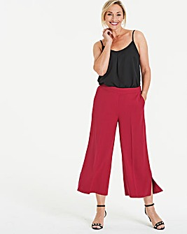 Pink Side Split Culottes
