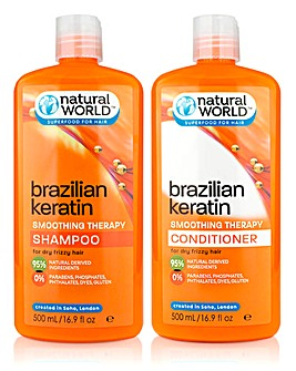 Keratin Shampoo & Conditioner Set
