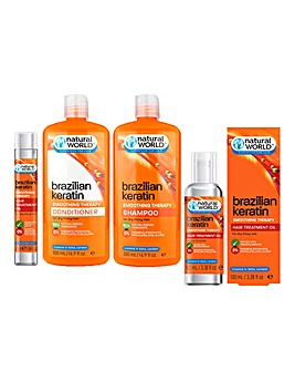 Natural World Keratin Smoothing Therapy Complete Hair Care Set