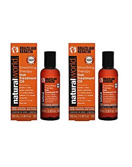 Keratin Hair Treatment Oil Duo
