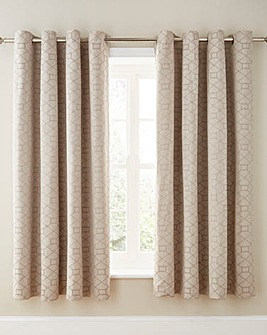 Decadence Jacquard Lined Eyelet Curtains