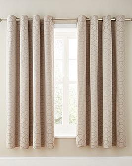 Decadence Jacquard Lined Eyelet Curtains