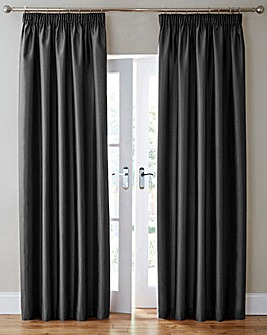 Faux Silk Pencil Pleat Curtains