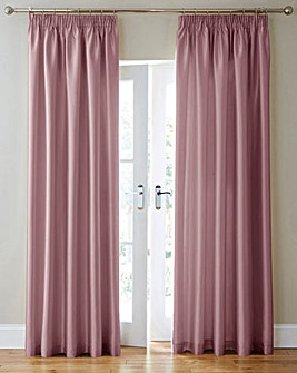 Faux Silk Long Pencil Pleat Curtains