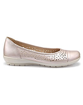 600c14955f9 Hotter Precious Wide Fit Ballerina Shoe