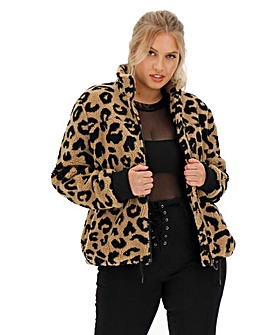 Animal Print Faux Fur Teddy Fleece