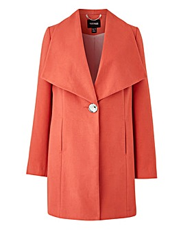 Blush Large Collar Coat