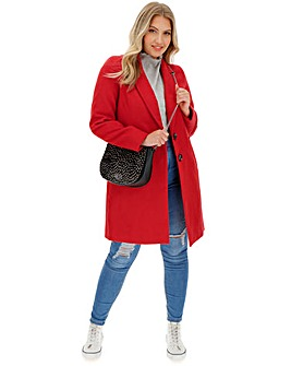 Red Single Breasted Coat