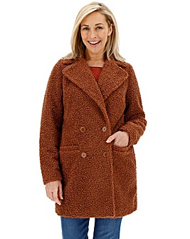 Rust Teddy Faux Fur Coat
