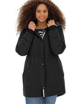 Black Luxe Faux Fur Lined Parka