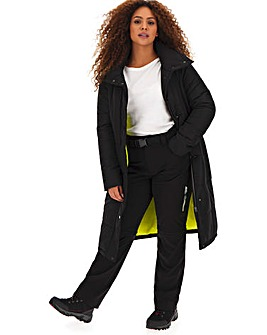 Longline Puffer With Contrast Lining