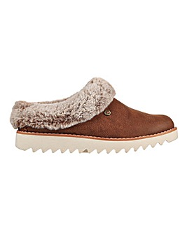 Skechers Mountain Kiss Leather Slippers D Fit