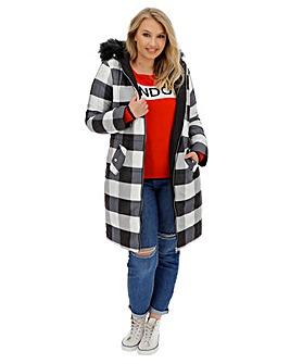 Reversible Hooded Longline Puffer Coat