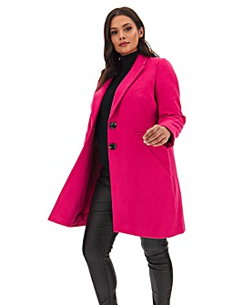 Bright Pink Single Breasted Coat