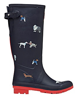 Joules May Day Dogs Wellies