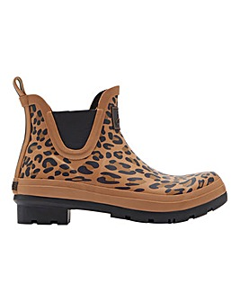 Joules Leopard Short Wellies