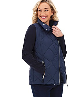 Padded Coat with Jersey Sleeves