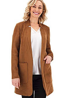 Tan Chuck On Suedette Jacket