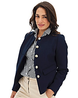 Navy Short Military Coat