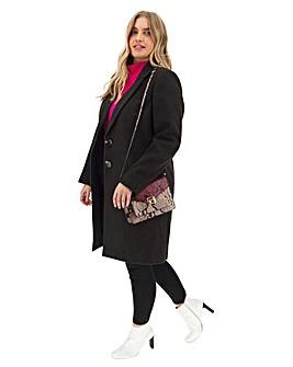 Black Single Breasted Coat