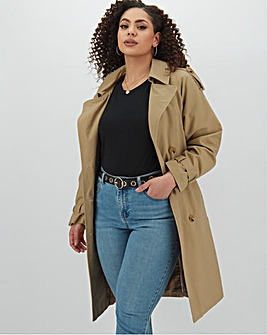 Cotton Rich Double Breasted Trench Coat