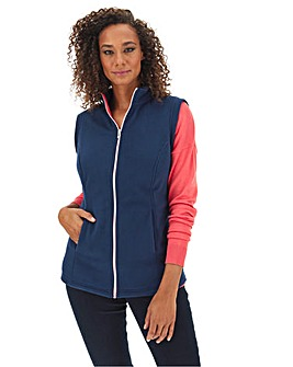 Navy Fleece Gilet