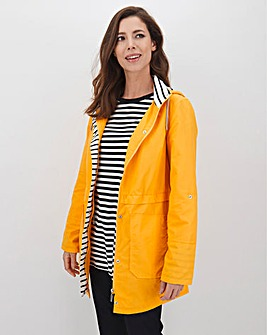 Yellow Water Resistant Lightweight Parka