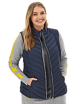 Navy Lightweight Padded Gilet with Shower Resistant Coating