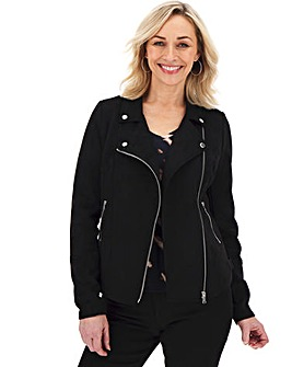 Black Suedette Biker Jacket