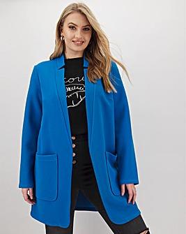 Azure Blue Chuck On Crepe Jacket
