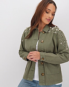 Pearl Embellished Shacket