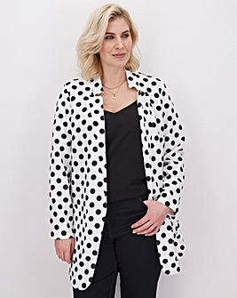 Polka Dot Chuck On Crepe Jacket