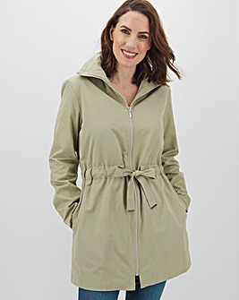 Sage Green Soft Touch Belted Jacket