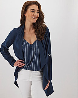 Navy Waterfall Soft Touch Jacket