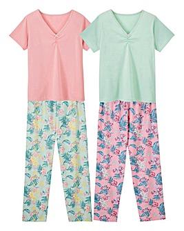 Short Sleeve Pyjamas Pack of 2