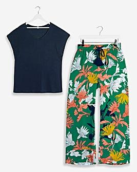 Pretty Secrets Shirred Top Trouser Set