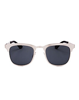 Alyssa White Frame Sunglasses, With Smoke Lenses