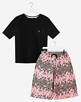 Pretty Secrets Short Sleeve Crop PJ Set