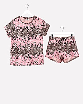Value Short Sleeve Blouson Shortie Set