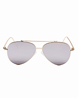 Claire Gold Frame Sunglasses