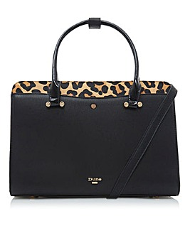 Dune Dependria Boxy Leather Tote