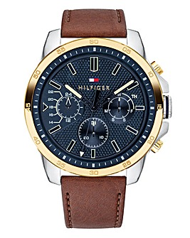 Tommy Hilfiger Gents Leather Strap Watch