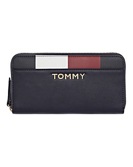 Tommy Hilfiger Logo Zip Around Purse