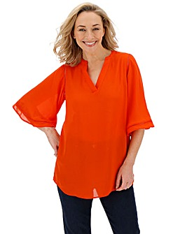 Orange Ladder Insert Tunic