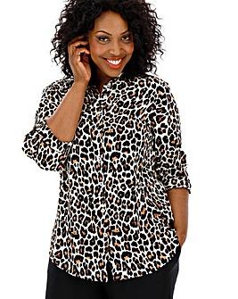 Leopard Print Crinkle Shirt