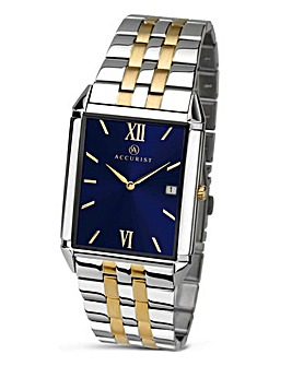 Accurist Gents Blue Face Bracelet Watch