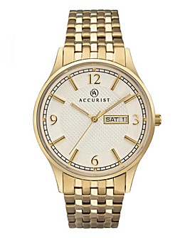 Accurist Gold Tone Bracelet Watch