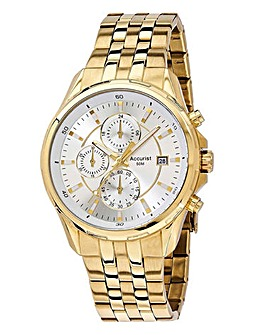 Accurist Gents Gold Chronograph Watch