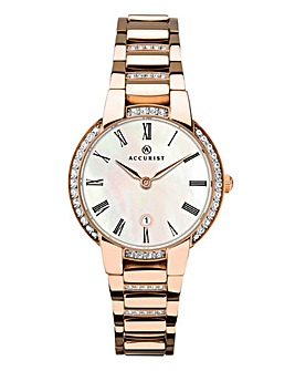 Accurist Ladies Rose Gold Watch