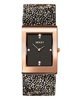 Seksy Rocks Rose-Gold Plated Watch